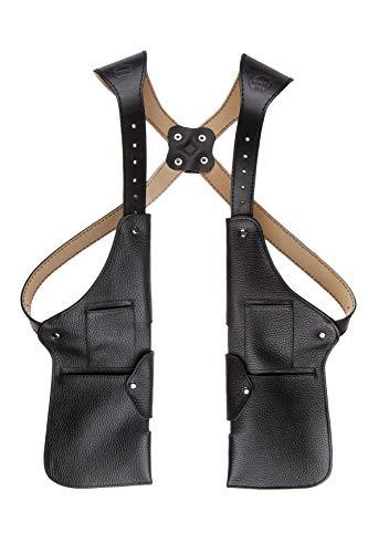 - Handmade Leather Shoulder Waist Holster Travel Bag Belt Men Tactical Pouch Purse Wallet Cell Phone Money Passport Security Anti-theft Hidden Practical Formal Elegant Businessman Biker Pocket