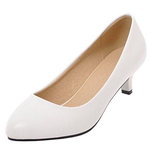 Coolcept Women Slip On Court Shoes 4cm White cyVhcjcnKH