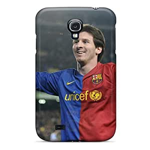 New Fashionable Luckmore Cover Case Specially Made For Galaxy S4(sport Lionel Messi The Player Of Barcelona)