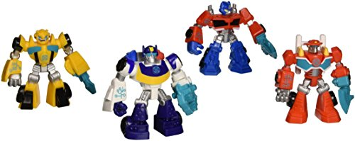 Playskool Heroes  Transformers Rescue Bots Figures  Set Of 4  Optimus Prime  Bumblebee  Heatwave The Fire Bot  And Chase The Police Bot  3 5 Inches