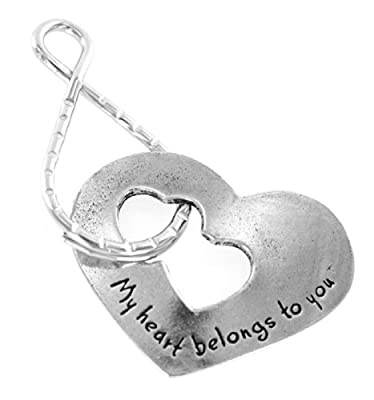 """My Heart Belongs To You"" Blessing Ring Keychain"