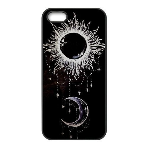 Price comparison product image Sun and Moon Phone Case Custom Well-designed Hard Case Cover Protector For Iphone 5 5S