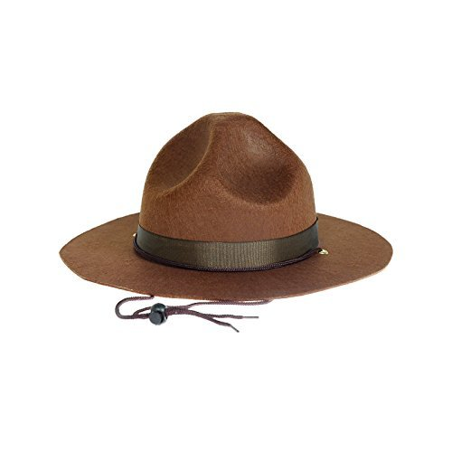 Ranger hat - Brown Drill Sergeant Military Campaign Hat by Funny Party Hats