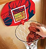Ideas in Life Basketball Laundry Hamper Clothes Basket and Hoop 2-in-1 Over the Door Kids Clothes Hamper