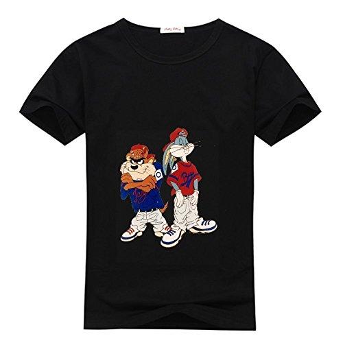 Sun-Tshirt Old School Bugs Bunny Taz Men's Classic Short Sleeve Cotton T Shirt ()