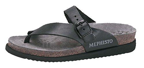 Mephisto Women's Helen Flats Sandals, Black Waxy, Size - 7