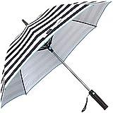 ファンファンパラソル 扇風機付き日傘 ボーダー 晴雨兼用 傘 60cm UVカット 紫外線防止 日焼け対策 扇風機付き 日傘