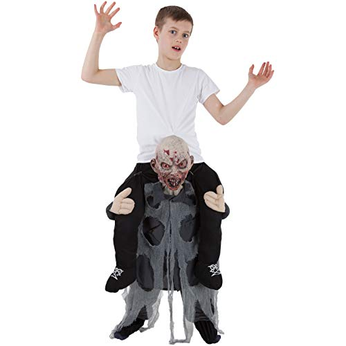 Kids Piggyback Zombie Costume Ride On Childs Illusion Carry Me Fancy Dress -