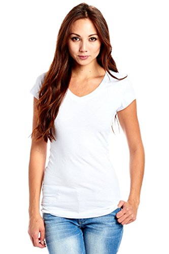 Women Ladies Scoop Neck Top, with Cap Sleeves