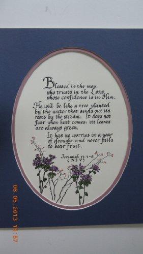 Jeremiah 17:1-8 Navy Blue on Lilac