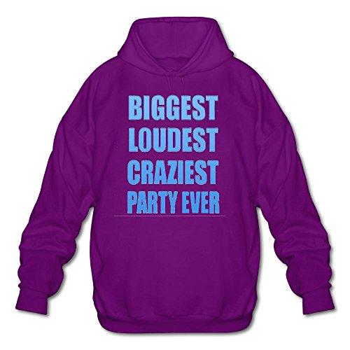iest Party Ever Spring Autumn Long Sleeve for Men Custom Hoodie Sweatshirt SizeKey1Purple ()
