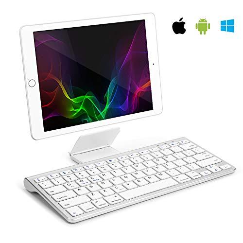 Samsers Bluetooth Keyboard for ipad - Ultra Slim Universal Wireless Bluetooth Keyboard with Sliding Stand Compatible iOS iPad Pro Mini Air iPhone