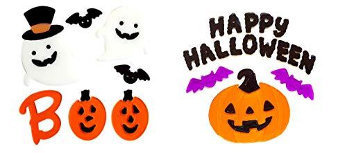 Gel Charms Halloween Window Clings Decor Monsters, Bats,