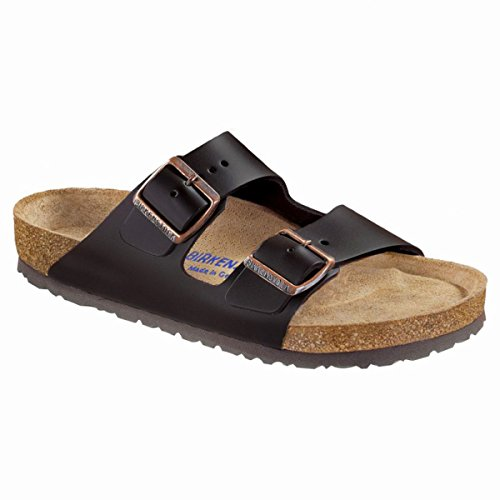 Birkenstock Arizona 'Soft Footbed' (Unisex) Dark Brown Natural Oiled Leather Sandals (40 M EU - 9-9.5 US (Arizona Oiled Leather)