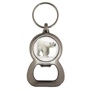 Polar Bear Image Design Metal Bottle Opener Keyring