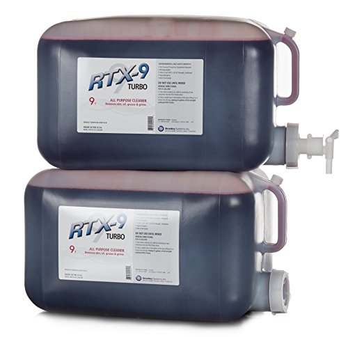 RTX-9 TURBO Maximum Strength All Purpose Cleaner Degreaser: 55 Gallon Drum Refill Kit - Makes 55 Gallons of Full Strength, Undiluted Product by Bradley Systems