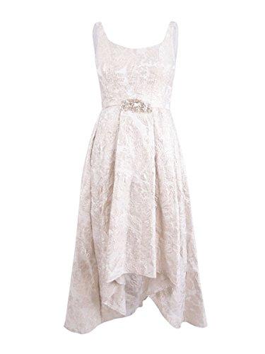 Ivory Low Plus Betsy Evening Dress Adam Hi Metallic Womens amp; OSgzqB