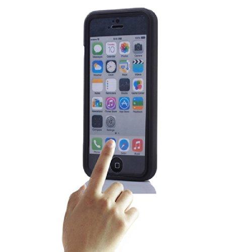 HSRpro Miami per cellulare con funzione Touch + protezione anteriore per iPhone 5C custodia cover case custodia trasparente latte Nero