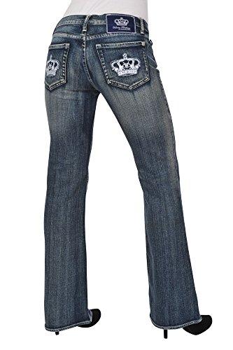 Victoria Beckham Pantalón mujer 29 Azul / Jeans normal Corte de bota -