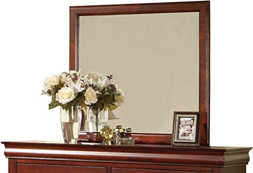 (ACME 19524 Louis Philippe III Mirror, Cherry Finish)