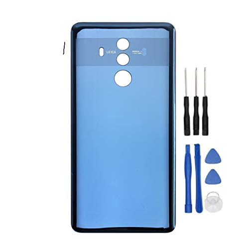 HYYT Replacement for Huawei Mate 10 pro Back Battery Housing Door Cover Back Case Battery Back Door Cover Cell Phone Housing Replacement + A Set of Tools (Midnight Blue)