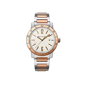 Bvlgari Bvlgari Off White Dial Stainless Steel & 18kt Pink Gold Automatic Mens Watch 102053