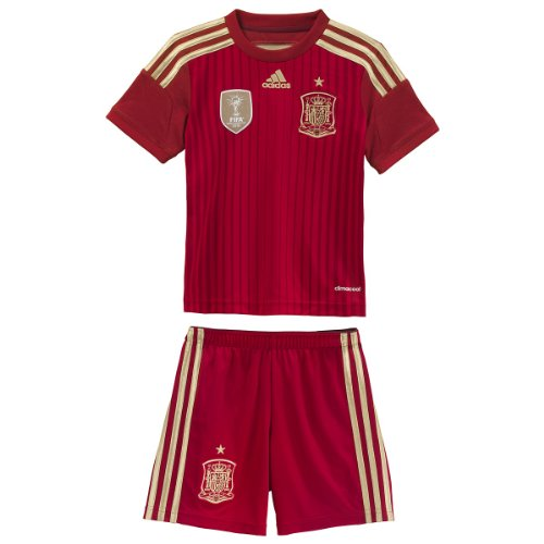 Adidas Mini Mesh Shorts - ADIDAS Spain Home SMU MINI [VICRED/LGFOGO/TORO/CRARED] (2XS)