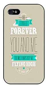iPhone 6 Forever, you and me, flying high. Love - black plastic case / Inspirational and motivational by SHURELOCK TM