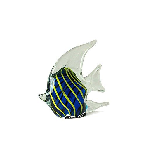 Marine Life Crystal Glass Angel Fish Figurine (Marine Angel Fish)