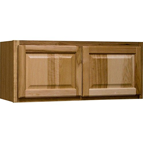 Hampton Bay Hampton Assembled 36x12x12 in. Wall Bridge Kitchen Cabinet in Natural Hickory