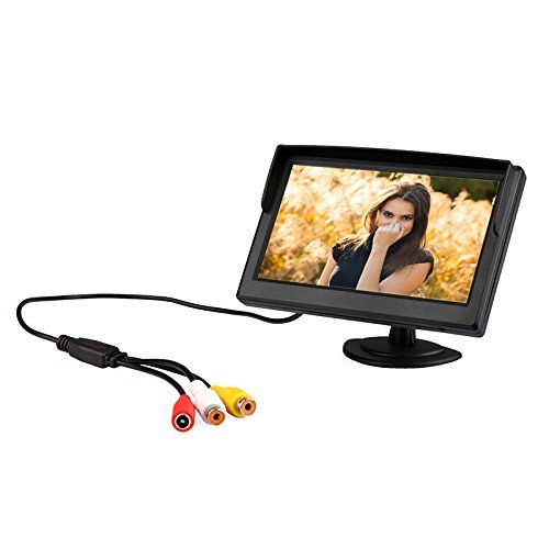 Docooler 5 Inches TFT LCD Car Color Rear View Monitor Parking Backup Camera DVD VCR + 2 Bracket