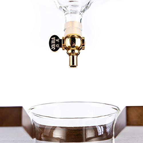 YAMA Glass YAMCDM8CBR, Brown Frame Cold Brew Drip Coffee Maker, 6-8 cup by Yama Glass (Image #2)