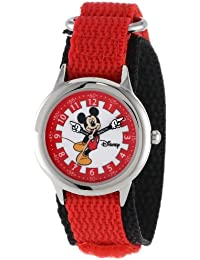 Kids' W000247 Mickey Mouse Stainless Steel Time Teacher Watch with Moving Hands