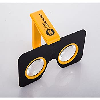 Pocket 360 - Compact Virtual Reality Viewer for iPhones and Android smartphones - WWGC Certified by Google (Yellow)