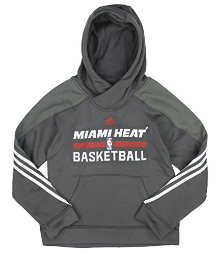 Miami Heat NBA Big Boys Youth Practice Pullover Hoodie, Charcoal (Charcoal, Large (14-16)) (Miami Heat Hoodie Youth compare prices)
