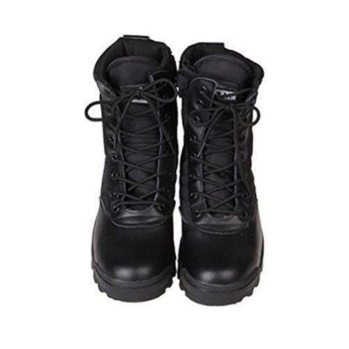 Parte 7inch da Esercito Scarpe Cadetto Lavoro Militare Stivali Contro Zip di pattuglia Cuoio Deylaying Nero Deserto Polizia Gli Giungla tattico fwF45xqx