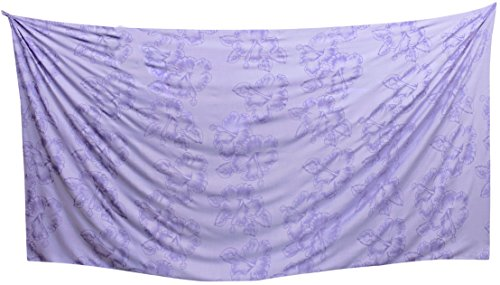 La Leela Damen-Strandbadebekleidung Badeanzug Glatt Rayon Bikini skrirt Sarong Wickeln Lila