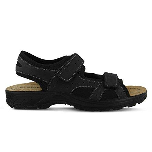 Black 46 Mysia Black M Men's Step sandals Spring Tqg6vtwq