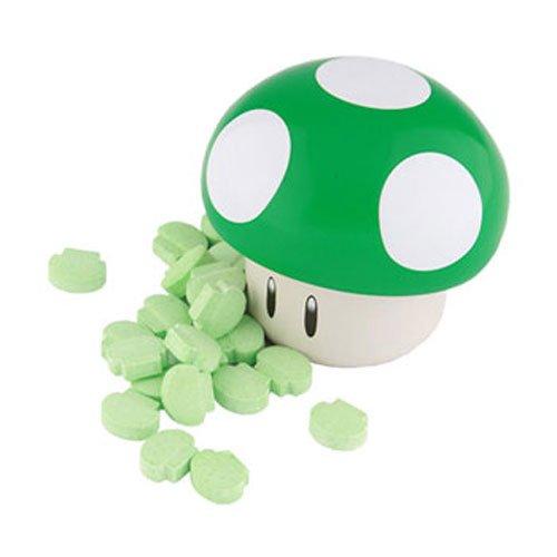 (New Super Mario Brothers Green Mushroom Candy Tin, 1 oz(28.3g)[Apple)