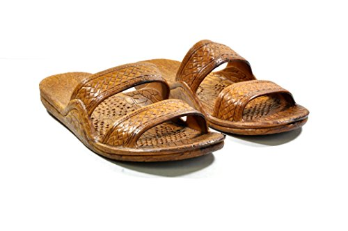 Hawaii Moses Unisex Rubber Slide on Jesus Sandal Slippers (7, Brown)