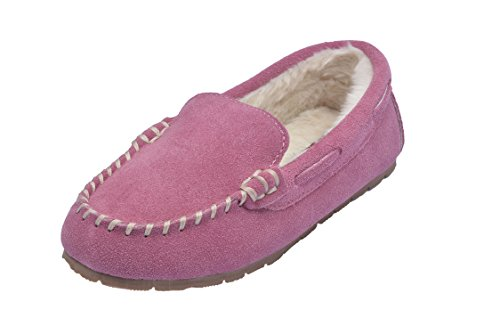 MOC PAPA Girls Boys Classic Cow Suede Moccasin Slipper