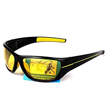 TIANLIANG04 Gafas de visión Nocturna de Hombres Tan polarizado la conducción Nocturna Mejorada día Nublado Lluvia