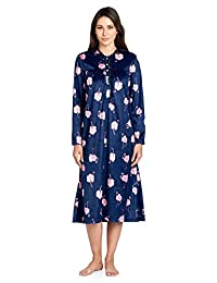 Ashford & Brooks Women's Micro Fleece Long Sleeve Nightgown