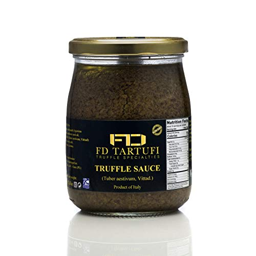 FD TARTUFI Truffle Sauce 500g (17.63oz) - (Tuber Aestivum) Gourmet Food Sauce   Condiments   non gmo   Made in Italy   Mushrooms   Truffles   Kosher