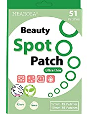 MEAROSA Ultra Thin Spot patch Invisible Pimple Patch 51 dots - VEGEN, Absorbing cover, Hydrocolloid Blemish Beauty Spot Patch, Two Size, All skin type (51 Patches)