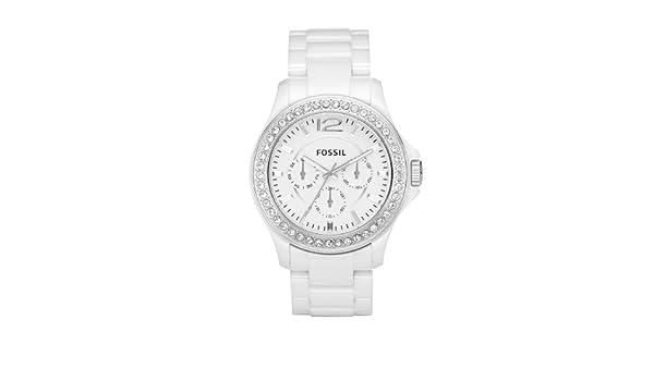 FOSSIL Ladies Sport CE1010 - Reloj analógico de cuarzo para mujer, correa de cerámica color blanco: Fossil: Amazon.es: Relojes