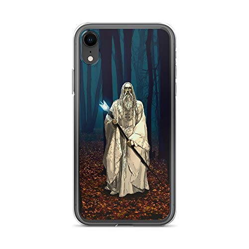 iPhone XR Case Anti-Scratch Motion Picture Transparent Cases Cover Lord of The Rings Saruman Movies Video Film Crystal Clear