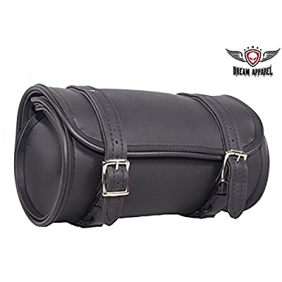 10 Inch Plain PVC Motorcycle Tool Bag with Two Roller Buckle Straps