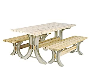 Hopkins 90182ONLMI 2x4basics Picnic Table Kit, Sand (Frames Only) by 2x4basics