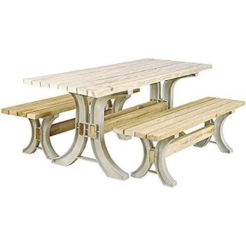hopkins 90182onlmi 2x4basics picnic table kit sand frames only - Wood Picnic Table